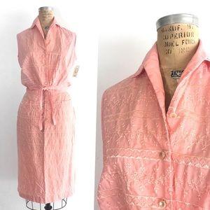 Vintage 60s Embroidered Summer Set, Top & Skirt